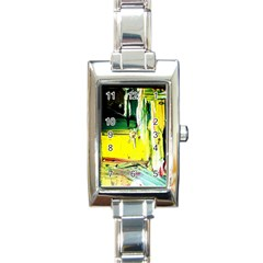 Poppies In An Abandoned Yard 10 Rectangle Italian Charm Watch