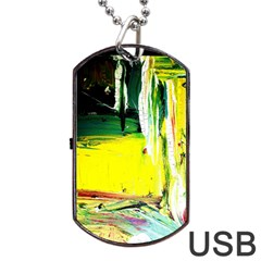 Poppies In An Abandoned Yard 10 Dog Tag Usb Flash (one Side) by bestdesignintheworld