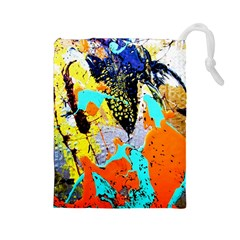 Africa  Kenia Drawstring Pouches (large)  by bestdesignintheworld