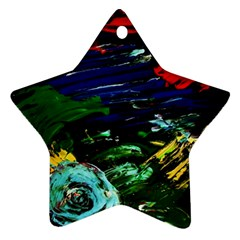 Tumble Weed And Blue Rose Ornament (star)