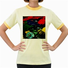 Tumble Weed And Blue Rose Women s Fitted Ringer T Shirts