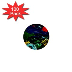 Tumble Weed And Blue Rose 1  Mini Buttons (100 Pack)