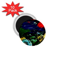 Tumble Weed And Blue Rose 1 75  Magnets (10 Pack)