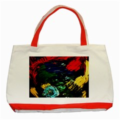 Tumble Weed And Blue Rose Classic Tote Bag (red)