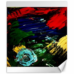 Tumble Weed And Blue Rose Canvas 20  X 24   by bestdesignintheworld
