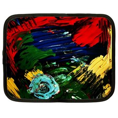 Tumble Weed And Blue Rose Netbook Case (large)