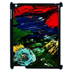 Tumble Weed And Blue Rose Apple Ipad 2 Case (black)