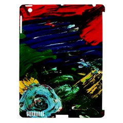 Tumble Weed And Blue Rose Apple Ipad 3/4 Hardshell Case (compatible With Smart Cover)