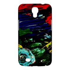 Tumble Weed And Blue Rose Samsung Galaxy Mega 6 3  I9200 Hardshell Case by bestdesignintheworld