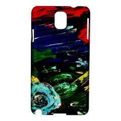 Tumble Weed And Blue Rose Samsung Galaxy Note 3 N9005 Hardshell Case by bestdesignintheworld