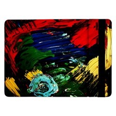 Tumble Weed And Blue Rose Samsung Galaxy Tab Pro 12 2  Flip Case