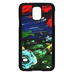 Tumble Weed And Blue Rose Samsung Galaxy S5 Case (black) by bestdesignintheworld