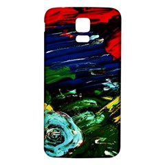 Tumble Weed And Blue Rose Samsung Galaxy S5 Back Case (white)