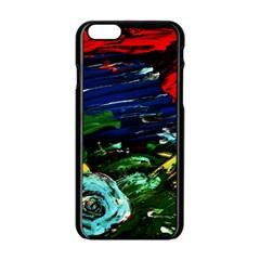 Tumble Weed And Blue Rose Apple Iphone 6/6s Black Enamel Case by bestdesignintheworld