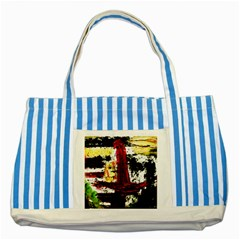 Collosium   Swards And Helmets 8 Striped Blue Tote Bag