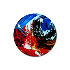 Mixed Feelings 4 Rubber Round Coaster (4 Pack)