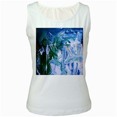 Close To Pinky,s House 9 Women s White Tank Top