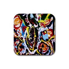 Inposing Butterfly 1 Rubber Square Coaster (4 Pack)