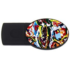 Inposing Butterfly 1 Usb Flash Drive Oval (2 Gb)