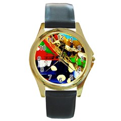 Catalina Island Not So Far 3 Round Gold Metal Watch
