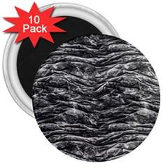 Dark Skin Texture Pattern 3  Magnets (10 pack)