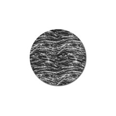 Dark Skin Texture Pattern Golf Ball Marker by dflcprints