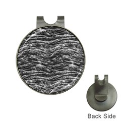 Dark Skin Texture Pattern Hat Clips with Golf Markers