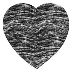 Dark Skin Texture Pattern Jigsaw Puzzle (Heart)
