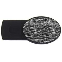 Dark Skin Texture Pattern USB Flash Drive Oval (4 GB)