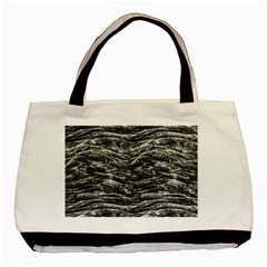 Dark Skin Texture Pattern Basic Tote Bag (Two Sides)