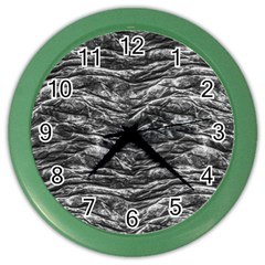 Dark Skin Texture Pattern Color Wall Clocks