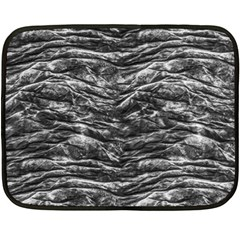 Dark Skin Texture Pattern Fleece Blanket (Mini)