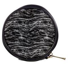 Dark Skin Texture Pattern Mini Makeup Bags