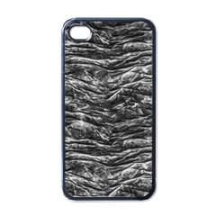 Dark Skin Texture Pattern Apple iPhone 4 Case (Black)