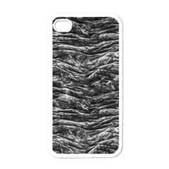 Dark Skin Texture Pattern Apple iPhone 4 Case (White)