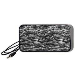 Dark Skin Texture Pattern Portable Speaker