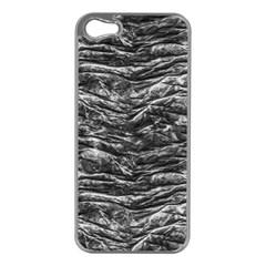 Dark Skin Texture Pattern Apple iPhone 5 Case (Silver)