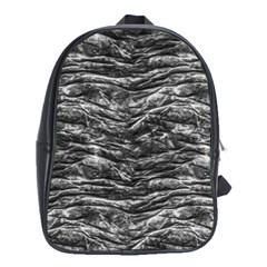 Dark Skin Texture Pattern School Bag (XL)