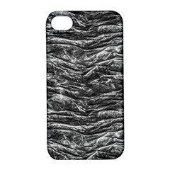 Dark Skin Texture Pattern Apple iPhone 4/4S Hardshell Case with Stand