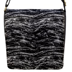 Dark Skin Texture Pattern Flap Messenger Bag (s)