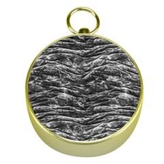 Dark Skin Texture Pattern Gold Compasses