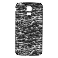 Dark Skin Texture Pattern Samsung Galaxy S5 Back Case (White)
