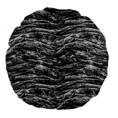 Dark Skin Texture Pattern Large 18  Premium Flano Round Cushions