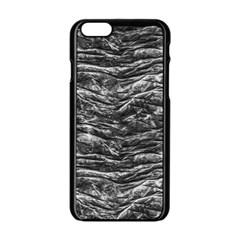 Dark Skin Texture Pattern Apple iPhone 6/6S Black Enamel Case