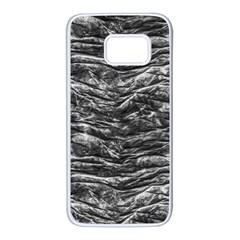 Dark Skin Texture Pattern Samsung Galaxy S7 White Seamless Case