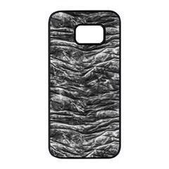 Dark Skin Texture Pattern Samsung Galaxy S7 edge Black Seamless Case