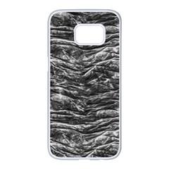 Dark Skin Texture Pattern Samsung Galaxy S7 edge White Seamless Case