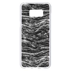 Dark Skin Texture Pattern Samsung Galaxy S8 Plus White Seamless Case