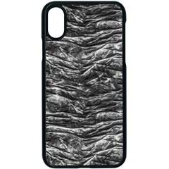 Dark Skin Texture Pattern Apple iPhone X Seamless Case (Black)