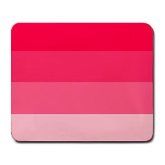 Pink Scarlet Gradient Stripes Pattern Large Mousepads